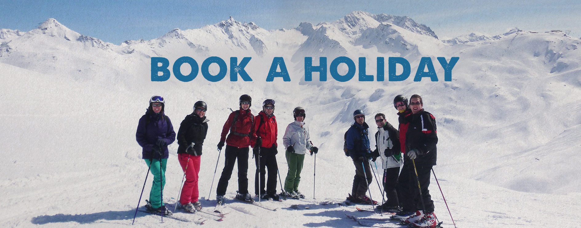 Group of skiers in the Alps